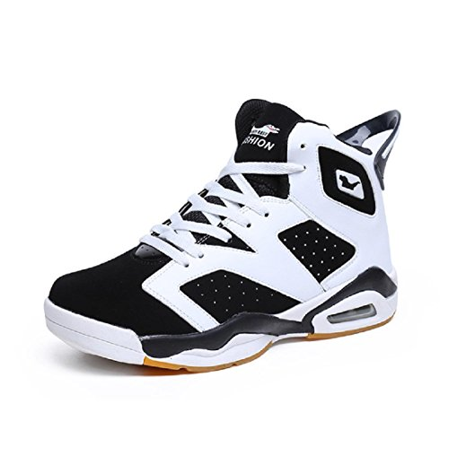 Zapatos Deportivos Para Hombre Entrenamiento Zapatillas De Baloncesto De Gran Tamaño Zapatillas De Baloncesto Blanco