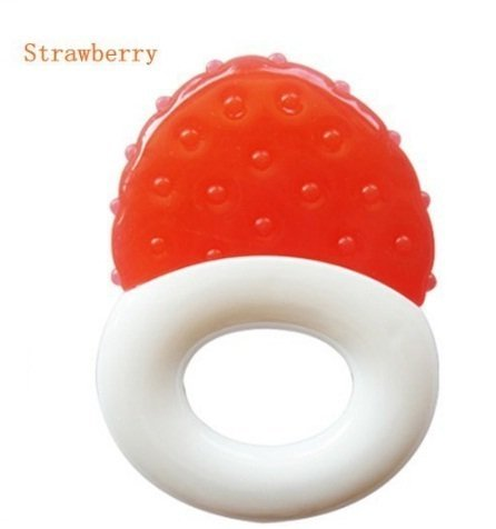 Teethers 1 Piece Baby Tooth Gel Silicone Fruit Shaped Tooth Teethers Soothers