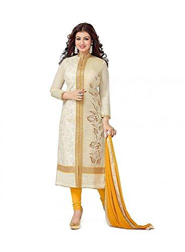 RTHub Women's Cotton Salwar Suit(Yellow-119 Yellow Free Size)