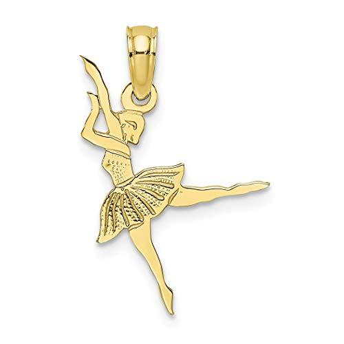 Ballerina-Anhänger, 10 Karat Gold, höhere Goldqualität als 9 Karat Gold -