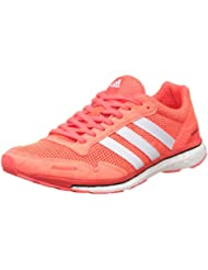 adidas Adizero Adios 3 W Zapatillas de running, Mujer, Rojo / Blanco