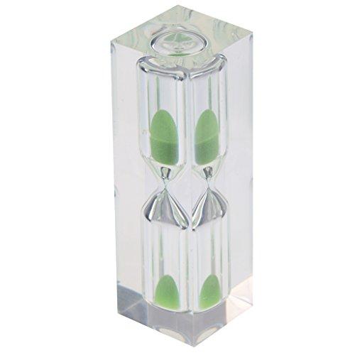 Blesiya 3 Minuten Sanduhr Sandglass Zahnputzuhr Teeuhr Timer für Kochen, Maske, Yoga, Spielen, Zähneputzen, usw. - Grün