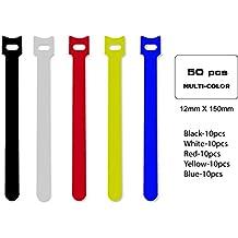 Qualgear riutilizzabile self Gripping Tie cable roll, nero