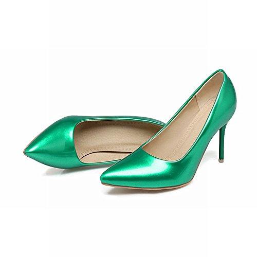 Mee Shoes Damen Stiletto Lackleder Geschlossen Pumps Grün