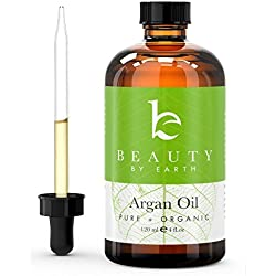 Argan Oil - 100% Pure Certified Organic Extra Virgin Highest Quality Argan Oil - For Face Hair Body and Feet. Use As a Hair Serum for Silky Smooth Hair and for Anti-frizz Use It on Your Skin to Reduce Stretch Marks and for Anti-aging Use It on Your Feet for Cracked Heels and on Nails and Cuticles. Have Beautiful Hair and Skin and All Naturally! Large 4oz Bottle! Bonus Item Included: All-natu