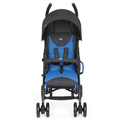 Chicco Echo - Silla de paseo, ligera y compacta, soporta hasta 22kg, color azul Mr Blue