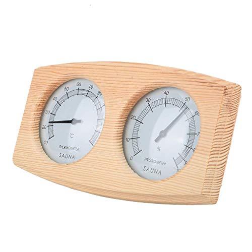 Javpoo Alta Qualità !! Termometro per sauna e igrometro 2 in 1 accessori per sauna igrotermografica in legno