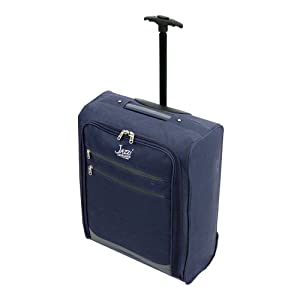 Borderline 2 Wheeled Super Lightweight Hand Luggage Holdall Cabin Bag Suitable For Easy Jet, Jet2, Ryanair, Monarch, First Choice, British Airways, Thompson