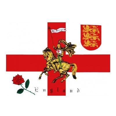 1000 Flags Drapeau de l'Angleterre avec rose, St George et lion 152 x 91cm