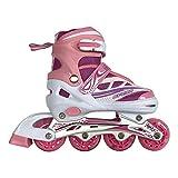 Tante Tina Kinderinliner größenverstellbar mit leuchtenden Rollen - Inlineskates für Kinder verstellbar in 4 Größen - Pink - Größe M (35-38)