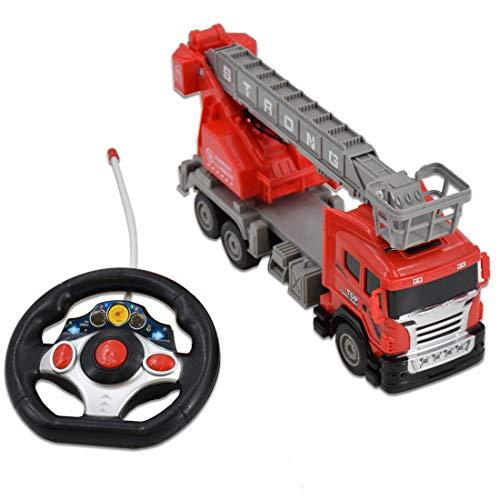RC Auto kaufen Feuerwehr Bild 2: deAO funkgesteuertes Feuerwehrauto; Truck mit Kanälen- Voll funktionsfähiges Fahrzeug mit Fernbedienung*