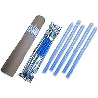 Cyalume Tube de 5 Bâtons Lumineux SnapLight Non-IMPACT 40cm Bleu 1 Anneau 8 Heures 15'' Emballés Individuellement
