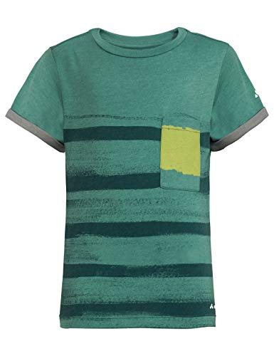 Vaude Kinder Tammar II T-Shirt, Nickel Green, 122/128 - Junge Bio-kinder-t-shirt