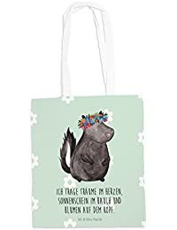 Ba... Tragetasche Tasche Jutetasche Tragetasche Eichhörnchen Blume Beutel