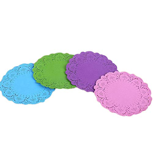 40x namgiy weiß Spitze Papier Deckchen Kuchen Verpackung Einweg Runde, Kreis Spitze Deckchen für Kuchen, Hochzeiten Geburtstag Party 10,5* 10,5cm