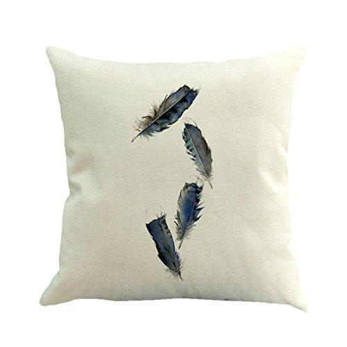 Vovotrade Leinenfeder Malerei Kissenbezug Throw Pillow Case (B) (Kissen Dekoratives Braun)
