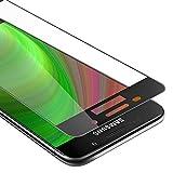 Cadorabo Verre Trempé pour Samsung Galaxy A5 2016 en Transparent avec Noir - Film Protection Écran avec Couverture Complète pour Display - Tempered Vitre Protection Full Cover