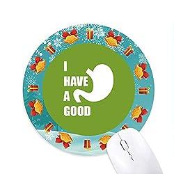 Magen Guter Körper Medizinische Nahrung Mousepad Rund Gummi Maus Pad Weihnachtsgeschenk