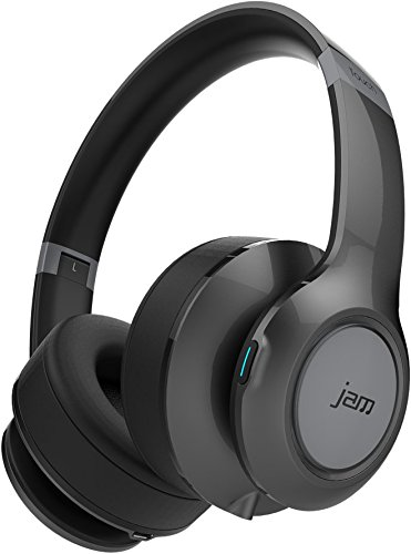 JAM Transit Touch True Definition Rechargeable Wireless Bluetooth On-Ear Headphones with Mic - Grey