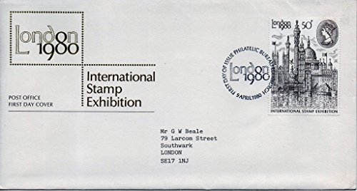 Bureau de poste Premier Jour Coque. London 1980. International Tampon d'exposition