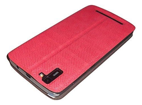Xolo Era 2 Diary Flip Cover from Mercator - Check Red