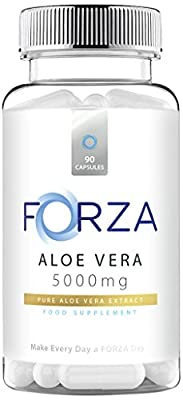 FORZA Aloe Vera - High Strength Aloe Vera Capsules 5000mg - UK Manufactured - Suitable For Vegetarians - 90 Capsules by FORZA