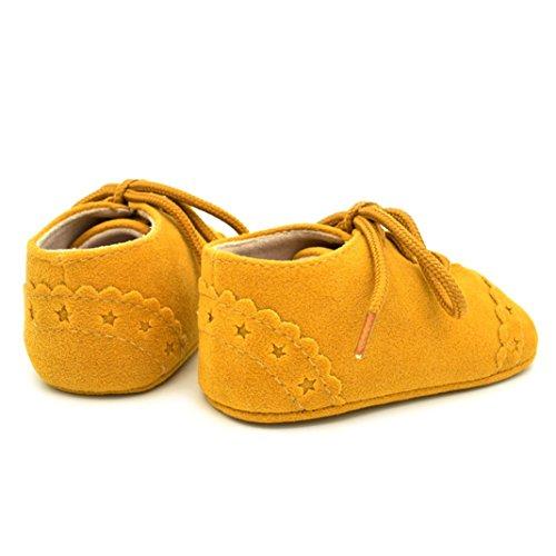 Pengyu , Mädchen Schnürhalbschuhe Gelb