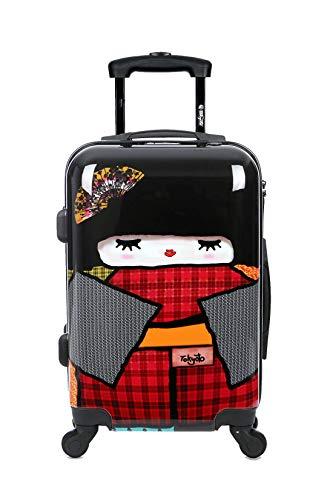 Maleta de cabina Equipaje de mano 55x40x20 Maleta juvenil trolley de viaje Ryanair Easyjet Maleta de viaje Rígida JAPAN DOLL...