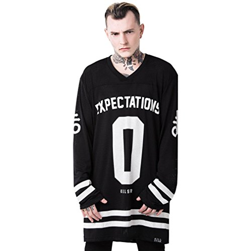 Killstar Langarm T-Shirt - Nothing to Lose Hockey Jersey S (Damen Hockey Jersey)