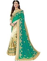 Manohari Embroidery Green Art Silk Saree