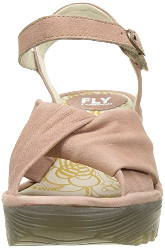FLY London Damen Yesh712fly Wedge Sandal Pink (rose 005)