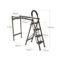 XQY Drying Rack Hangers Airer Drying Rack Ladder Dualuse Stainless Steel Floorstanding Fold Balcony Indoor and Outdoor Airfoil Hanger Clothes Rack