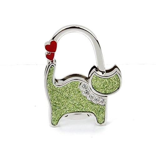 ma-on plegable bolsa bolso de mano mesa gancho colgador (gato verde)
