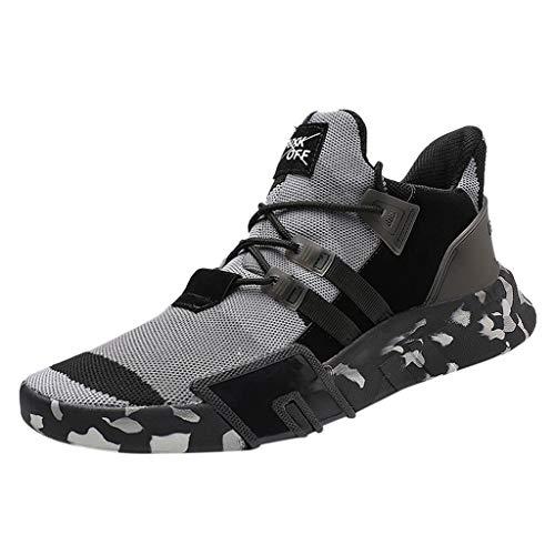 LILIHOT Herren Freizeitschuhe atmungsaktive Sportschuhe mit Laufschuhen atmungsaktive leichte Mode Camouflage vielseitige Sportschuhe leichte Fitnessschuhe Bequeme Mesh ultraleichte atmungsaktive