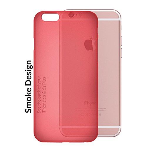 Orzly® - FlexiSlim Case für Apple iPhone 6 & 6S (2014 & 2015 Version) - Super Slim (0,35 mm) Schutz-Abdeckung - Halbtransparent SCHWARZ ROT FlexiSlim für iPhone 6 PLUS & 6S PLUS