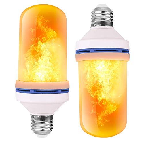 Flammen Lampe,Flamme Glühbirne,3 Beleuchtungsmodi Indoor/Outdoor dekorative Lichter für Halloween/Weihnachten (4W E27 Base) (2PCS)