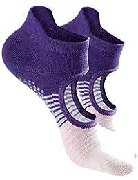 MIIAOPAI Calcetines De Yoga Antideslizante Profesional Femenino Pilates PráCtica Calcetines De Masaje AéRea Calcetines De Yoga