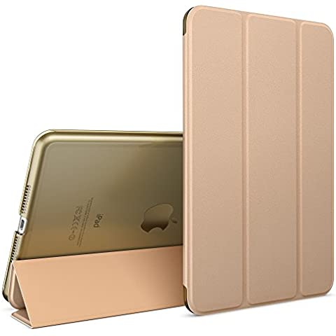 nica Smart Case Apple iPad Mini 4 Tablet Caso Ultrasottile Slim Cover - Multi Supporto Verticale Funzione Automatica Sveglia / Riposo - Oro - Partito Personalizzati Mini