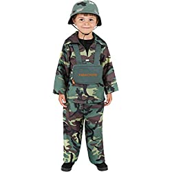 Smiffy's - Disfraz de Soldado para niño, Talla 10 - 12 años (38662L)