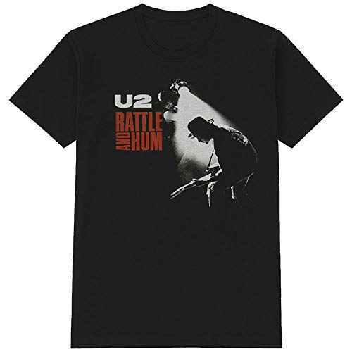 Tee Shack U2 Rattle and Hum The Edge Bono Oficial Camiseta para Hombre (Small)