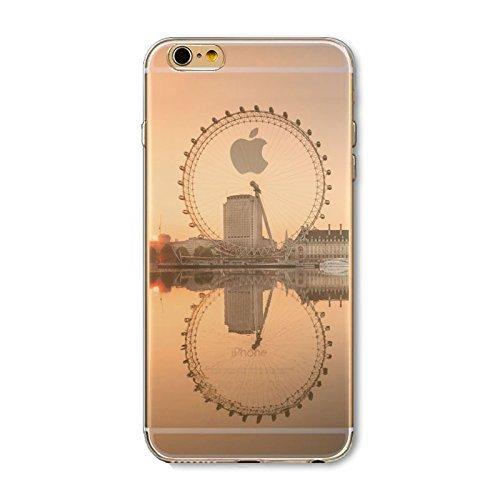 Coque iPhone 6 6s Housse étui-Case Transparent Liquid Crystal en TPU Silicone Clair,Protection Ultra Mince Premium,Coque Prime pour iPhone 6 6s-Paysage-style 3 10