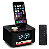 Homtime Docking Station Speaker with Alarm Clock Radio Bluetooth Dual USB Charger