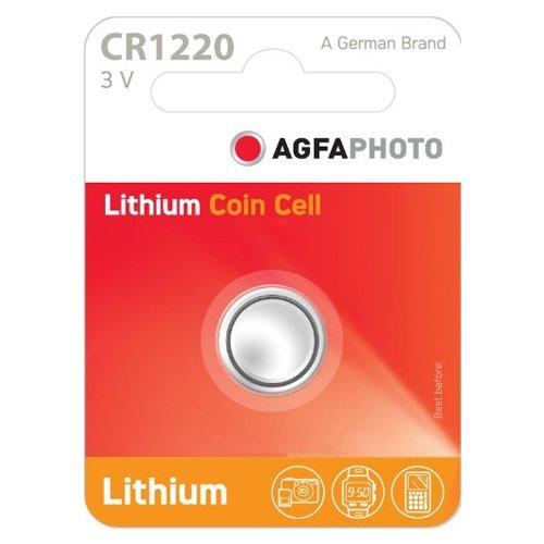 AgfaPhoto Lithium Pile bouton batterie CR 1220