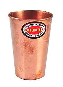 handmade pure Copper glass cup tumbler for drinking water india ayurveda
