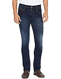 Flying Port Men's Cotton Lycra Black Slim Fit Casual Jeans