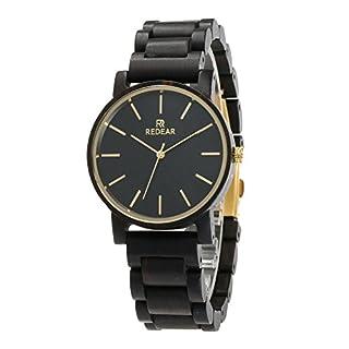 Herrenuhren Uhren aus Holz, Damen Klassiker Quarz Analoguhren, Ebenholz Paaruhren, Muttertag, Valentinstag Geburtstagsgeschenke, heißer Amazon