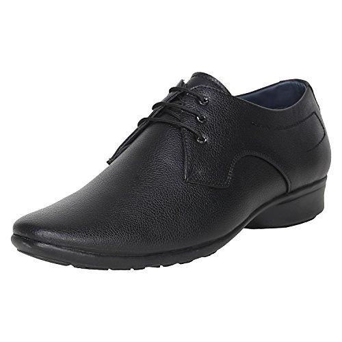 Kraasa Men's Black Synthetic Formal Shoes - 8