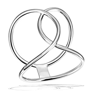 Goldmaid Damen-Midi-Ring semicircle 925 Sterlingsilber