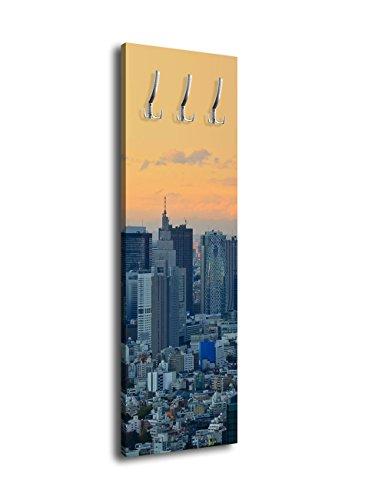 Wandmotiv24 Perchero diseño Tokyo Skyline Shin juku