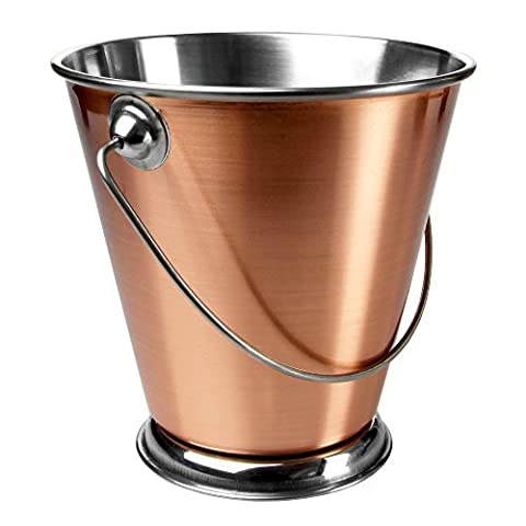 Copper Food Presentation Bucket 12cm - Mini Pail with Handle for Serving Food by Sunnex